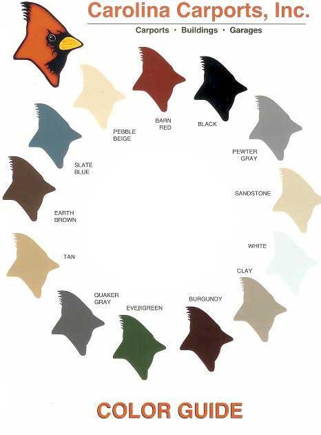 Carolina Carports Color Chart